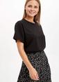 DeFacto Uzun T-shirt Siyah